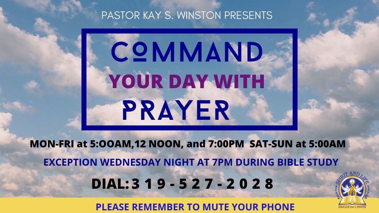 Command Your Day in Prayer